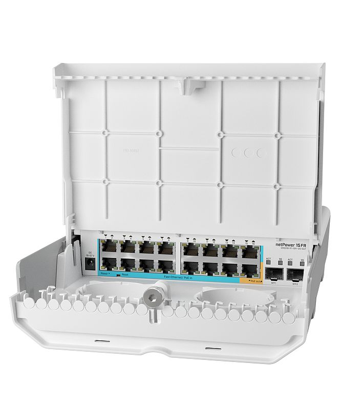 MikroTik Cloud Router Switch CRS318-1Fi-15Fr-2S-OUT - netPower 15FR
