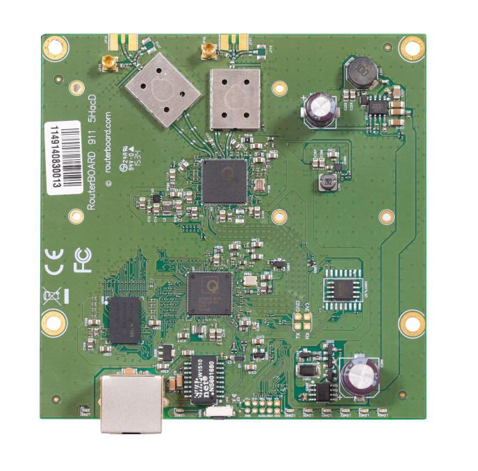 MikroTik RouterBOARD RB911-5HacD, 802.11a/n/ac, RouterOS L3, 1xLAN, 2xMMCX