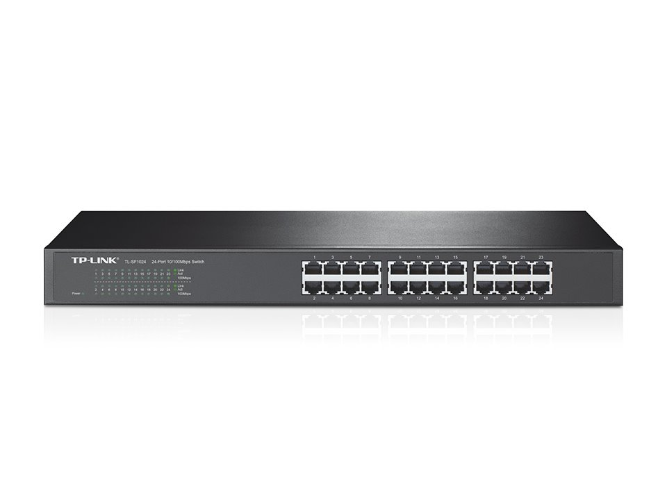 "Switch TP-Link TL-SF1024 switch 24xTP 10/100Mbps 19""rack"