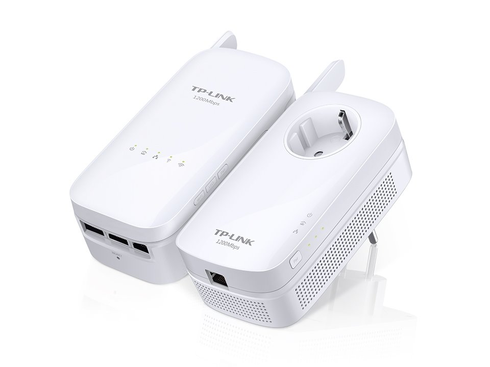 TP-Link Powerline extender TL-WPA8630KIT - Starter Kit, AV1200 Gigabit Powerline AC Wi-Fi Kit