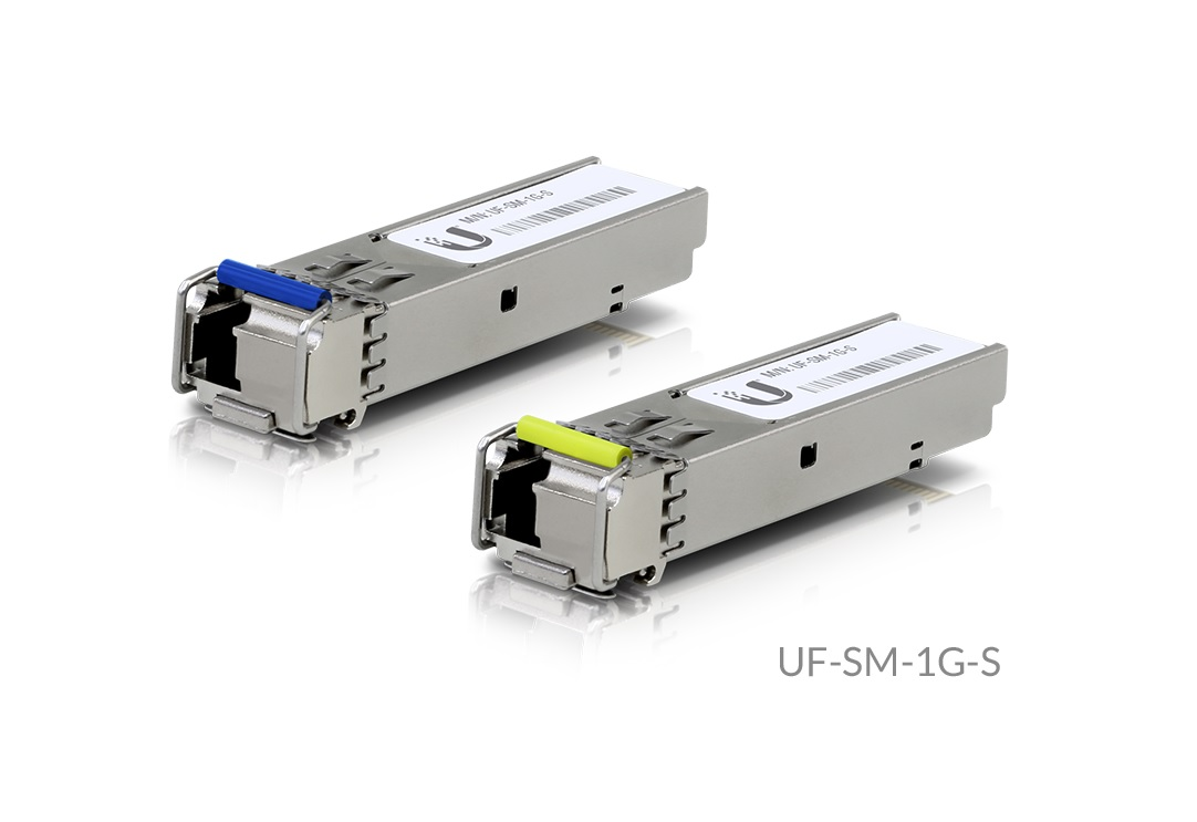 UBNT UF-SM-1G-S, U Fiber, Single-Mode Module, 1G, BiDi, 2-Pack